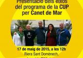 Presentació dels eixos del programa de la CUP per Canet